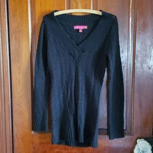 So Real So Right Black Long Sleeve Sweater